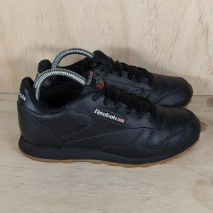 Reebok Classic Leather Black Kid´s Size 5.5